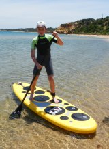 Alex Henderson, age 11, launched an online paddle boarding retail business after graduating from Lemonade Stand - The Business School for Kids.