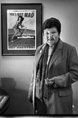 Joan Kirner in the offices of EMILY's List.