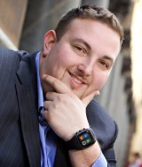 """IoT Group chief executive Simon Kantor wearing the OK Viper Phone Watch. Kantor says smart watches are the """"entry level"""" device for the connected home"""