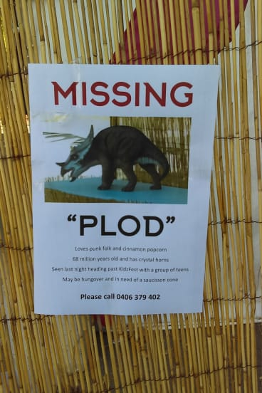 The posters urging the return of Plod.