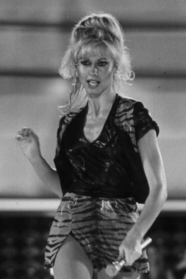 Olivia Newton John as Kira in the film <i>Xanadu</i>.