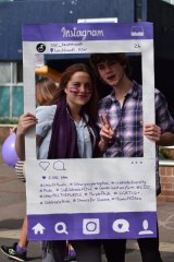 Wear It Purple day celebrations at Sydney Secondary College Leichhardt Campus.