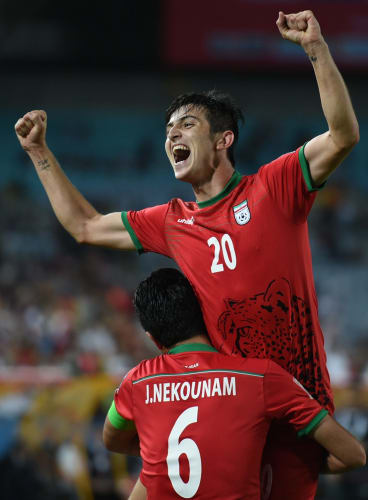 Iran's Sardar Azmoun has an early contender for goal of the tournament.