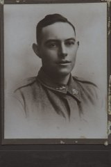 A picture of one of the soldiers, Henry Huntsman.