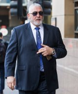 Mick Gatto appeared at the Melbourne Magistrates Court for weapons charges