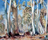 Hans Heysen's 'Ghost Gums and Cattle'.