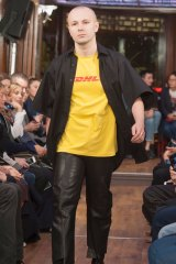 A model walks the runway during the Vetements show as part of the Paris Fashion Week Womenswear Spring/Summer 2016 on October 1, 2015 in Paris, France.