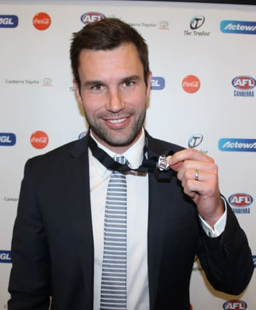James Bennett, winner of the Mulrooney medal, played his junior footy with the Magpies.