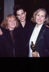 Jan Chapman, Janet Patterson (centre) and Jane Campion.