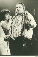 Publicity shot of Meat Loaf in concert in 1978.