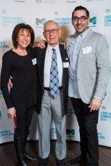 Family business: Diane Grosman, Abe Lourie and Joel Grosman.
