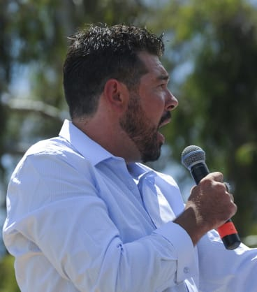 Reclaim Australia member and Canberra resident Daniel Evans.