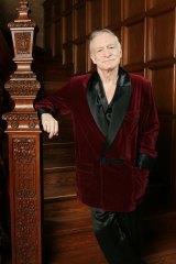 Playboy founder Hugh Hefner at the Playboy Mansion.