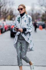 c0721a266fe Olivia Palermo outside Moncler Gamme Rouge during the Paris Fashion Week  Womenswear.