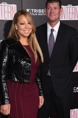 Mariah Carey and James Packer at the New York premiere of The Intern in September.