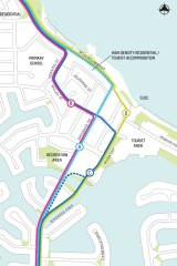 Suggested route options through Mooloolaba.