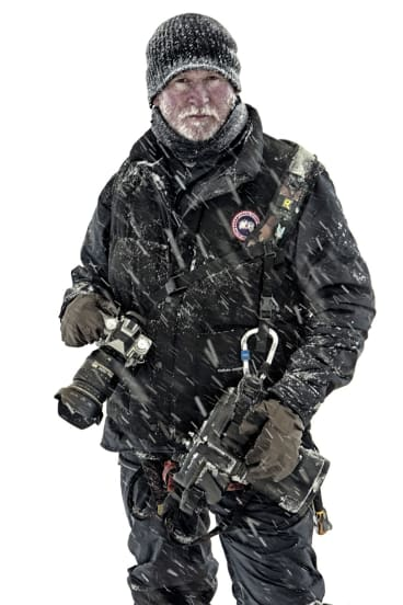 Jasin Boland on the set of Everest.