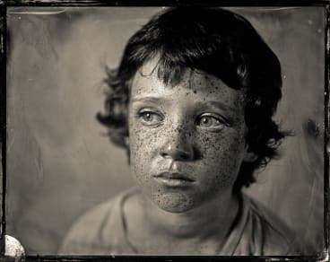 'Heath', from a series of wet plate collodion photographs made by New Zealand-based artist, Paul Alsop, in his darkroom caravan.