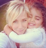 Sally Faulkner with daughter Lahela, 6.