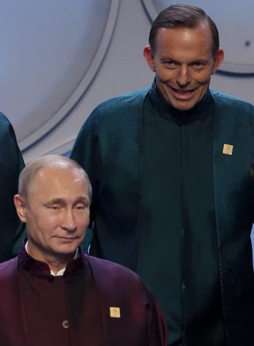 Prime Minister Tony Abbott failed to follow through on his threat to shirtfront Russian President Vladimir Putin.