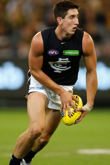 Rising Star: No.1 draft pick Jacob Weitering has made an impressive start to his career with Carlton.