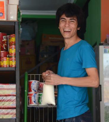 Afghanistan refugee Khadim Dai is stuck in Indonesia.