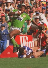 Noa Nadruku in his heyday for the Canberra Raiders.