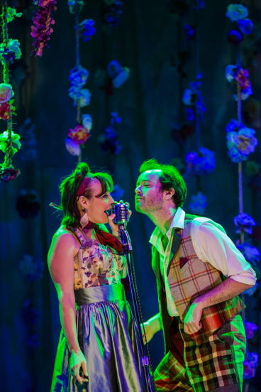 Abi Tucker and Gareth Davies in Bell Shakespeare's As You Like It at Canberra Theatre.   The Canberra Times  Photo Jamila Toderas