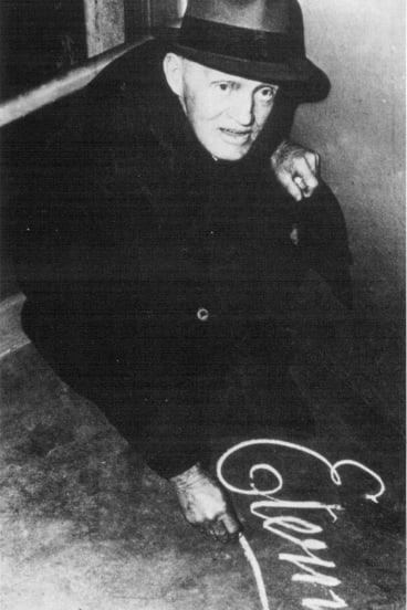 "A rare photo of Arthur Stace – ""Mr. Eternity""."