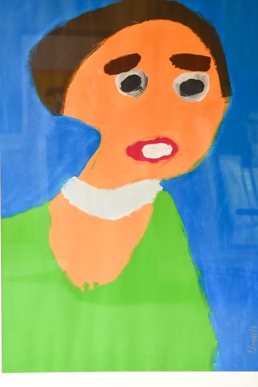 <i>Woman In Green</i>, after Vincent van Gogh, by Patrick Francis.