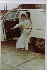 Lynette White on her wedding day.
