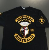 A Satudarah outlaw motorcycle club shirt seized by NSW Police