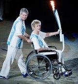 Raelene Boyle and Betty Cuthbert at the Sydney Olympics opening ceremony..
