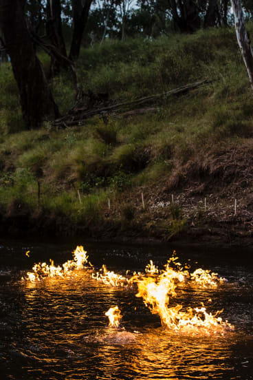 Origin Energy said the methane bubbles in the river are not caused by CSG activity.