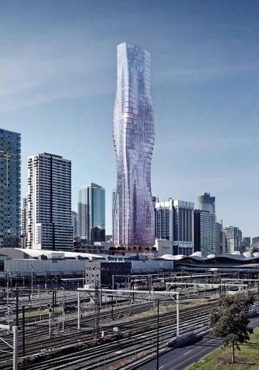 An artist's impression of Spencer Street tower.