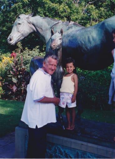 Madeleine and grandpa Charlie Perkins.