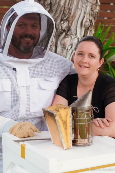 Mark and Jo Knobel market their honey beyond Australia.
