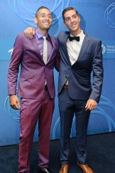 Nick Kyrgios and Thanasi Kokkinakis at the Newcombe Medal.