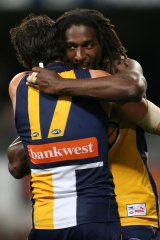 Nic Naitanui celebrates being made into a blow-up doll.