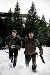 Power of landscape: Josh Wiggins  and Matt Bomer in <i>Walking Out</I>.