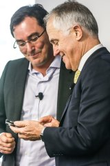 Malcolm Turnbull is a fan of the self-destructing messaging app Wickr.