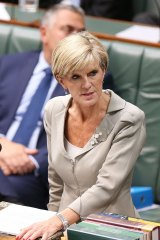 Binding commitment: Foreign minister Julie Bishop.