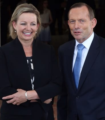 New Health Minister Sussan Ley and Prime Minister Tony Abbott.