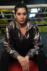 Nicole Chamoun plays aspiring boxing trainer Amirah Al-Amir in On the Ropes.