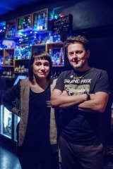 Owners Gabi Purnell and Jason Newton in the SG - Small Bar.