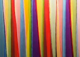 Abstract: Karl Wiebke's Vertical Stripes Fourteen,  acrylic on cotton canvas.