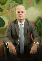 Transfield chief executive Graeme Hunt in Sydney on Thursday.