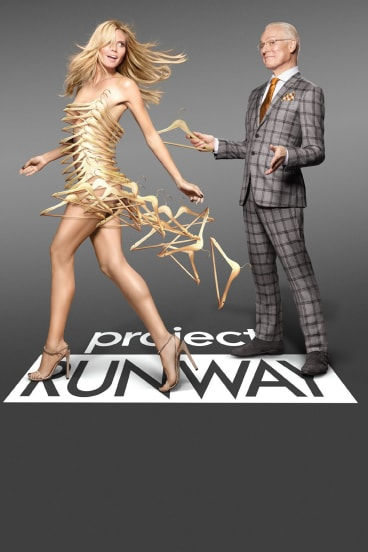 Project Runway judge Tim Gunn with Heidi Klum.