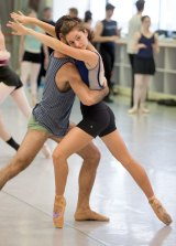 Jacqueline Clark and Cristiano Martino during rehearsals for DGV.