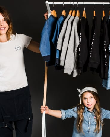 Maddison Noble and four-year-old daughter Riley Freeman are the creatives behind new kids fashion label 'Raising Riley'.